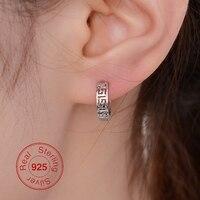 ĐÀN ÔNG Cổ Điển Hoop Earrings 925 Sterling Silver 13 MÉT Nhỏ Huggie Hoop Earrings Đối Với Phụ Nữ Mô Hình Bức Tường Lớn Bạc Hollow bông tai