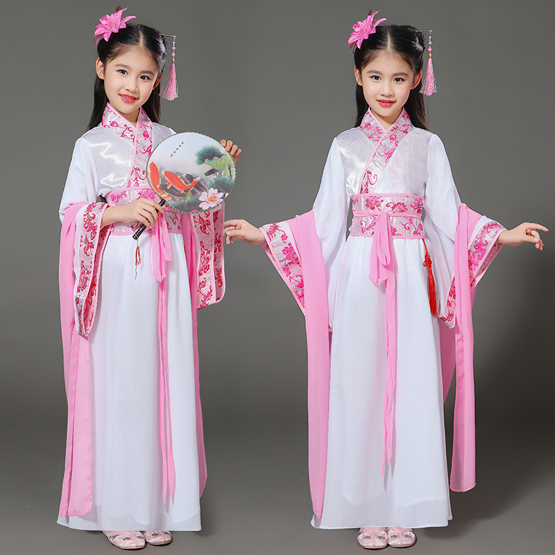 halloween costume for kids traditional chinese dance dress ancient costume hanfu for girls Tang costume child red woman costumes