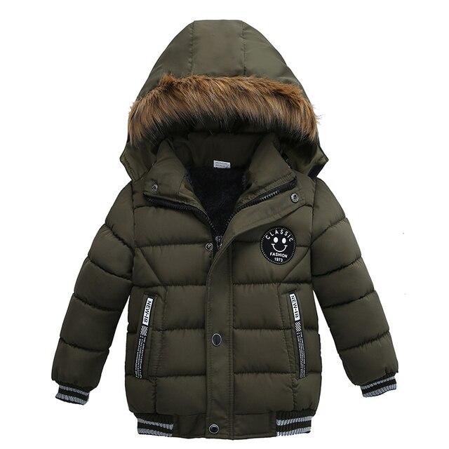 d70d15c92 New Style Hooded Winter Warm Coat Jacket Zipped Kids Boys Jackets ...