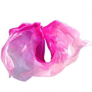 Image 3 - New style Belly dance veils 100% silk veils handmade gradual color veils can be customized