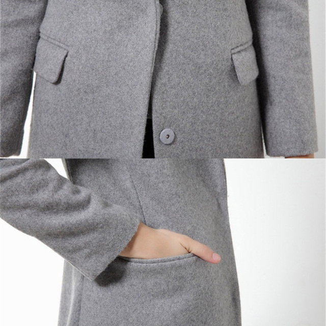 Long Wool/ Cashmere Blend Coat
