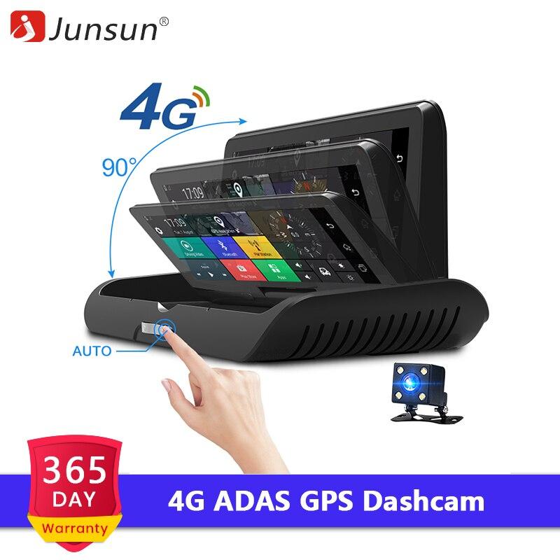 Junsun E91P Pro 4G ADAS Car Dashcam Android WiFi DVR Camera Full HD 1080P Dual Lens Auto Dash Cam Navigator GPS Parking Monitor