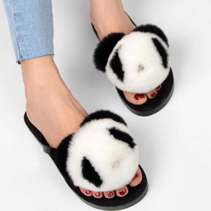 slipper real fur pompom (3)