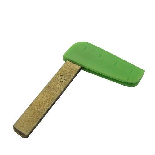 все цены на Free shipping Emergency Key Blade For Laguna Card New green Blade For Renault(5pcs/lot)