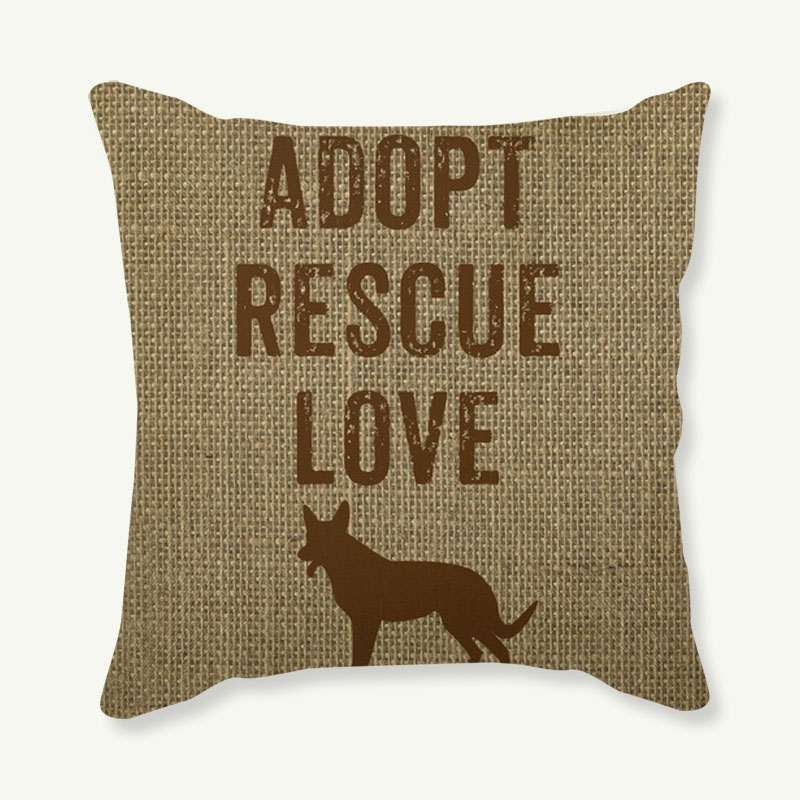 Dog Cushion Covers Multicolor Paintings Bullterrier Dachshunds Sausage Dogs Pillow Cover Sofa Linen Beige Pillow Case