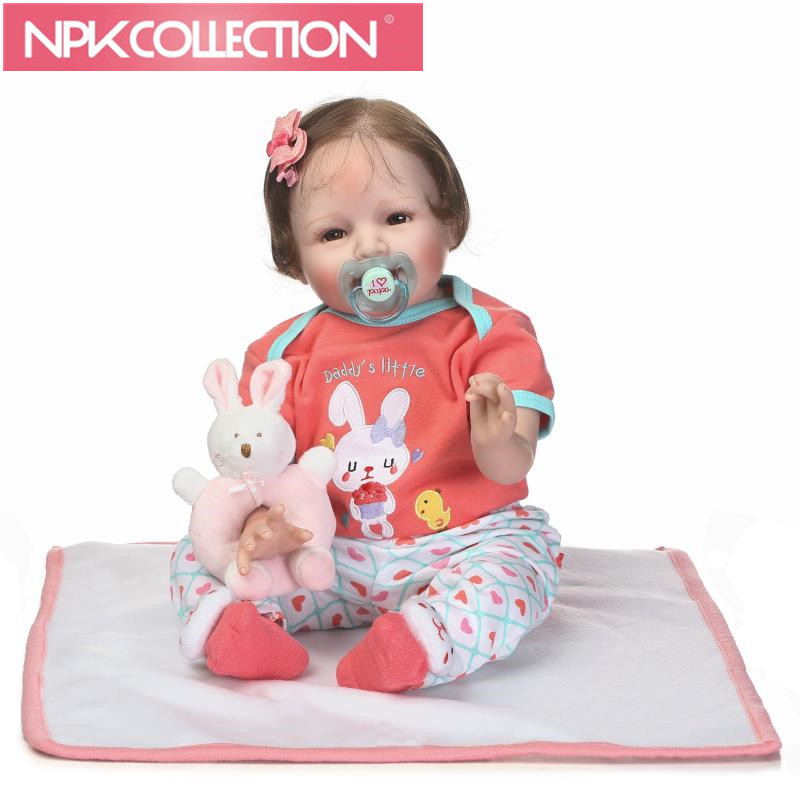 Bebe Girl Reborn Dolls 22 55cm NPK Brand Silicone Reborn Baby Dolls Toy Doll Baby Dolls For Girls Gift Rooted Hair baby born dolls handmade doll bjd dolls reborn silicone baby dolls accessories lol kid toy gift kawaii brand dropshipping