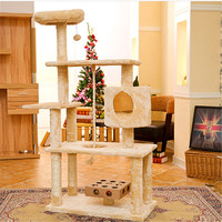 Wooden Pets Cat Climbing Frames Toys Interactive Gatos Shelves Pet Interesting Soft Toys Supplies Products For Kittens DDMYX92