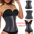 Hot Shapers Waist Trainer Steel Bone Latex Waist Shaper Underbust Women Slimming Body Shaper Plus Size Shapewear zipper