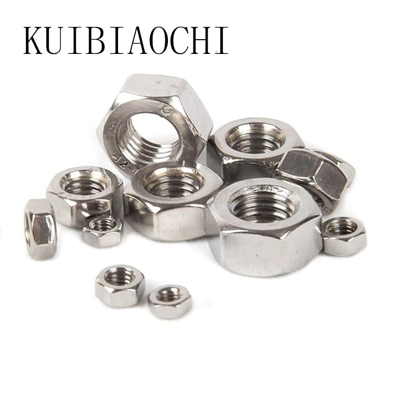 100pcs/lot DIN934 M1.6 M2 M2.5 M3 M4 Carbon Steel Hex Nut Hexagon Nuts Metric Thread Suit For Screws Bolts HW010 100pcs lot new m3 nut hex stainless steel screws thread nutsert hexagon nuts metric thread screw hy398 100