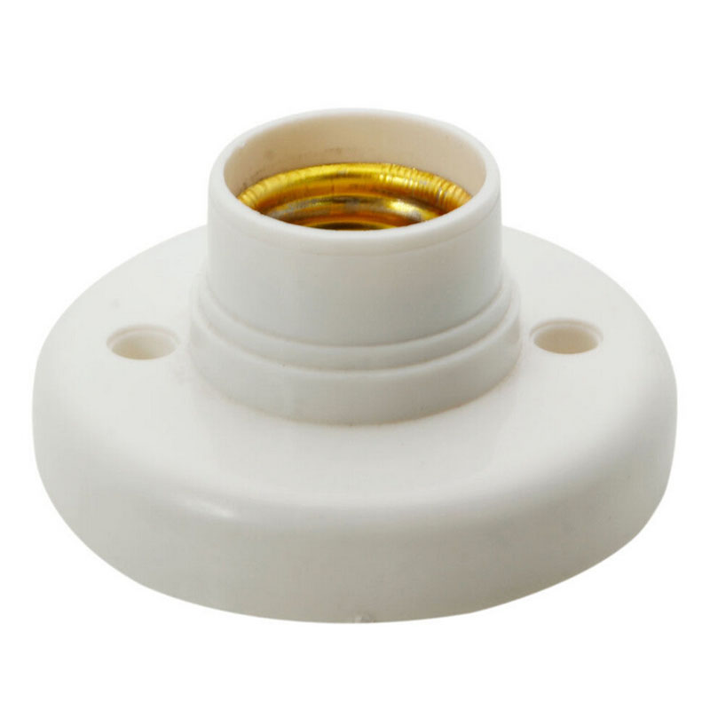 Us 0 55 17 Off 1pc E27 Lamp Holder Round Bulb Socket Bases White Flame Ant Pbt Free Shipping In From Lights