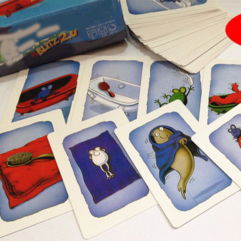 Board games card games for Blitz2 0 with English Instructions Geistesblitz game table for Party children kids in Card Games from Toys Hobbies