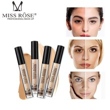 MISS ROSE 6 Color Face Foundation Cream Waterproof Natural Liquid  Full Cover Concealer Base Makeup Cosmetic Maquiagem sace lady full cover 8 color liquid concealer waterproof full cover concealer cream makeup base cosmetic perfect face foundation