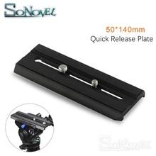 50*140mm Quick Release Platte Schiebe 501PL Plus Schnelle Verbinden Basis für Manfrotto 501 503 701HDV MH055M0 Q5 1/4 3/8 schraube