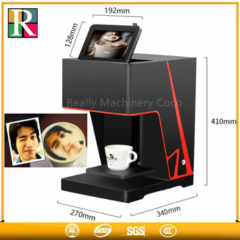 Digital Single color coffee printer machine