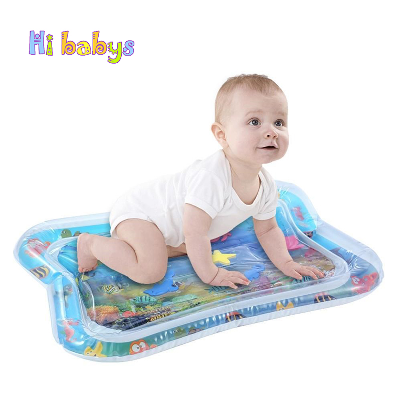 Kids Water Play Mat Cushion Baby Tummy Time Inflatable Patted Pad Toddler Prostrate Water Carpet Children Summer Game Mat