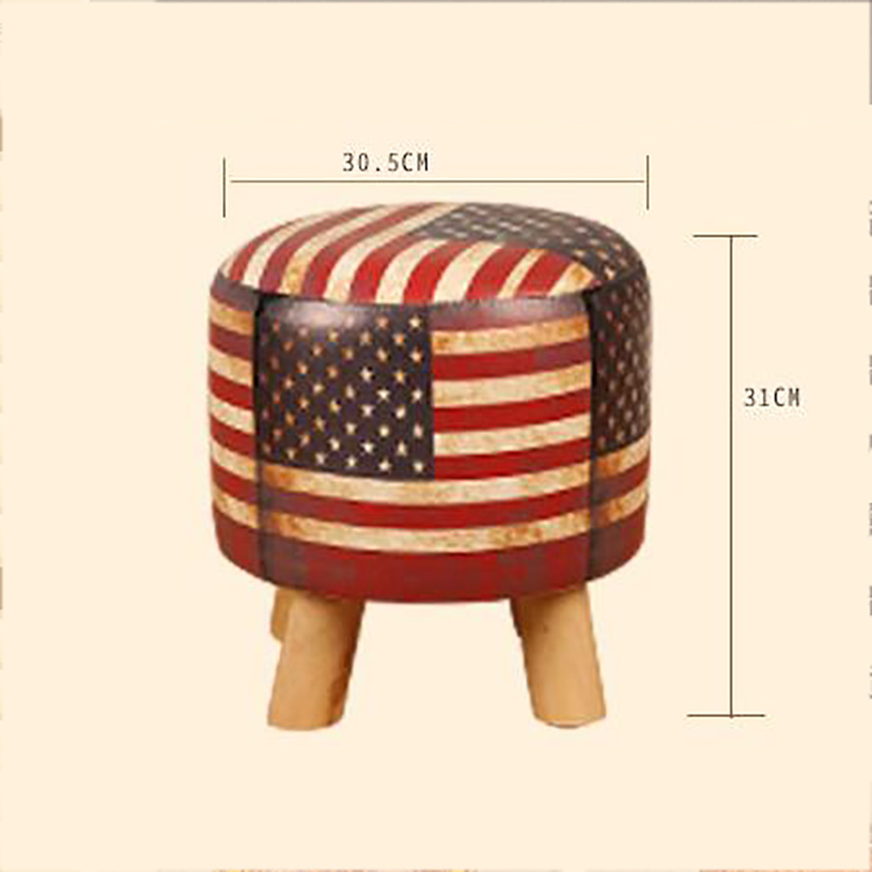 North Europe Low Stool Home Creative Lazy Person Sofa Wear Shoes Stool Bench Stool Retro Old Home Living Room Murals Furnishing