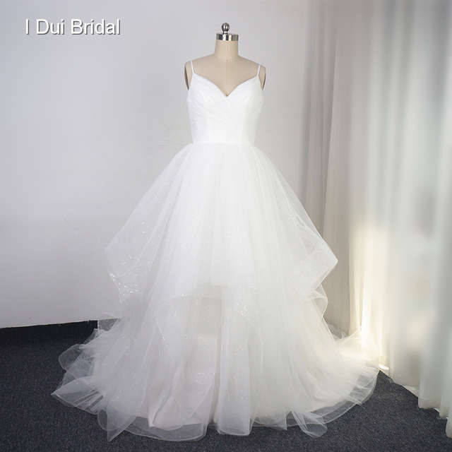Aliexpress.com : Buy Spaghetti Strap Tiered Wedding Dress