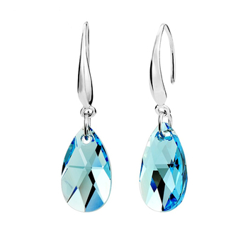 Women's Drop Crystal Earrings Earrings Jewelry Women Jewelry Metal Color: E021 Blue