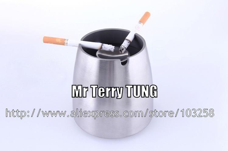 KTV 바 스테인레스 스틸 테이퍼 재떨이 사무실 회의 방 두껍게 연기 컵 방풍 재떨이 젖빛 매트 금속 담배 항아리