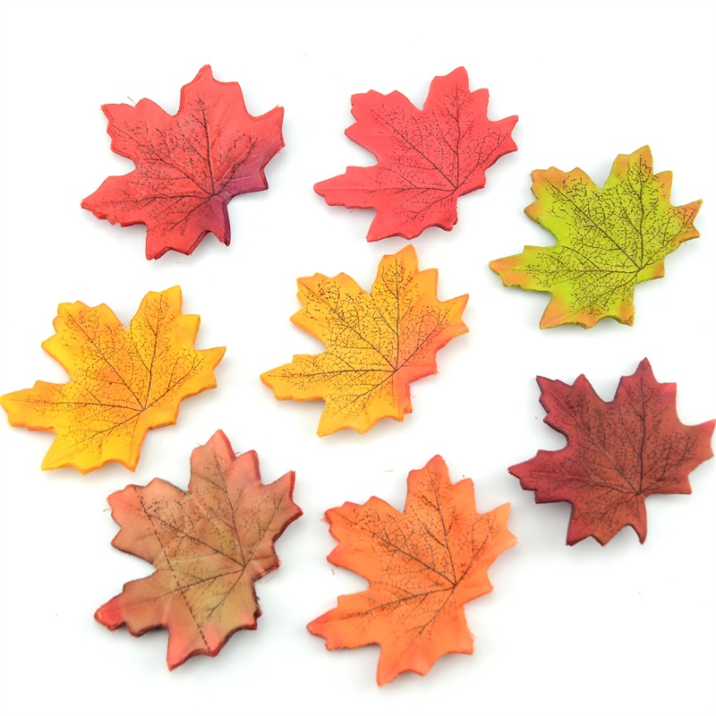 20pcs lot artificial silk maple leaves multicolor fake for Artificial leaves for decoration