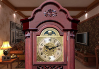 DHL Free Shipping Mechanical Grandfather Clock Solid Wood Mechanical Clock Pendulum Clock