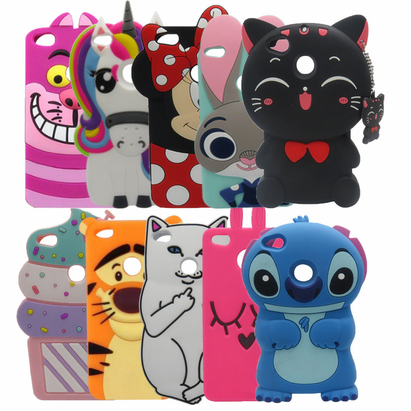 76fe092be92 Hot 3D Silicon Stitch minnie Cat Unicorn Cartoon Soft Phone Back Case for  Huawei Ascend P8 Lite 2017 / Honor 8 Lite/p9 lite 2017