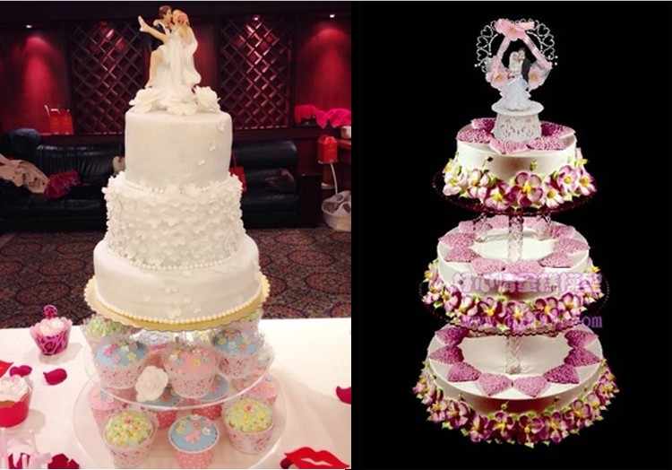Free Shipping H 8inch 1pcs 3 Tiers Birthday Cake Display Stand
