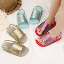 Mini Melissa Kids Sandals Italy Rome Girls Jelly Children Beach Shoes Summer Brazilian