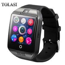 Q18 Fashion Bluetooth Smart Watch atbalsts SIM kartes kamera MP3 Bluetooth viedais pulkstenis Piemērots xiaomi Huawei Fitness skatīties jaunam