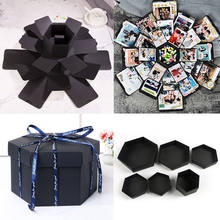 NEW Hexagon Surprise Explosion Box DIY Scrapbook Photo Album For Valentine Wedding Gift Boxes(China)