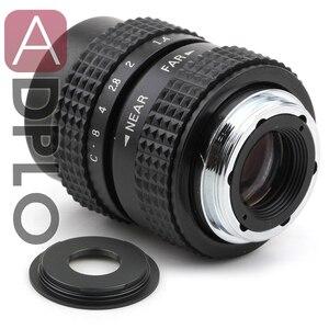 Image 1 - 25mm f1.4 CCTV C dağı Lens + C Mikro M4/3 NEX/N1/Pentax Q /Fuji/EF M M2 Adaptör Takımı Için Pentax Kamera + Lens Kapağı