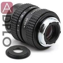 25mm f1.4 CCTV C mocowanie obiektywu + C do Micro M4/3 NEX/N1/Pentax Q/Fuji/EF M M2 Adapter garnitur do kamery Pentax + osłona obiektywu