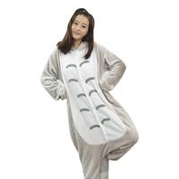 Śliczne Unisex Flanelowe Kapturem Totoro Zwierząt Onesies Piżama Cosplay Kostiumy Piżamy dla Kobiet Mężczyzn Dorosłych Onesie Piżamy 2017 Nowy