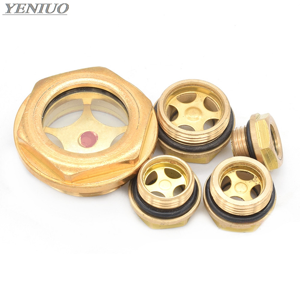 CNC Machine Copper Oil Mark Oil Level Display Hexagon M16 M20x1.5 M22x1.5 M27x1.5 M42x1.5 Connector Fittings Adapter Oil Window