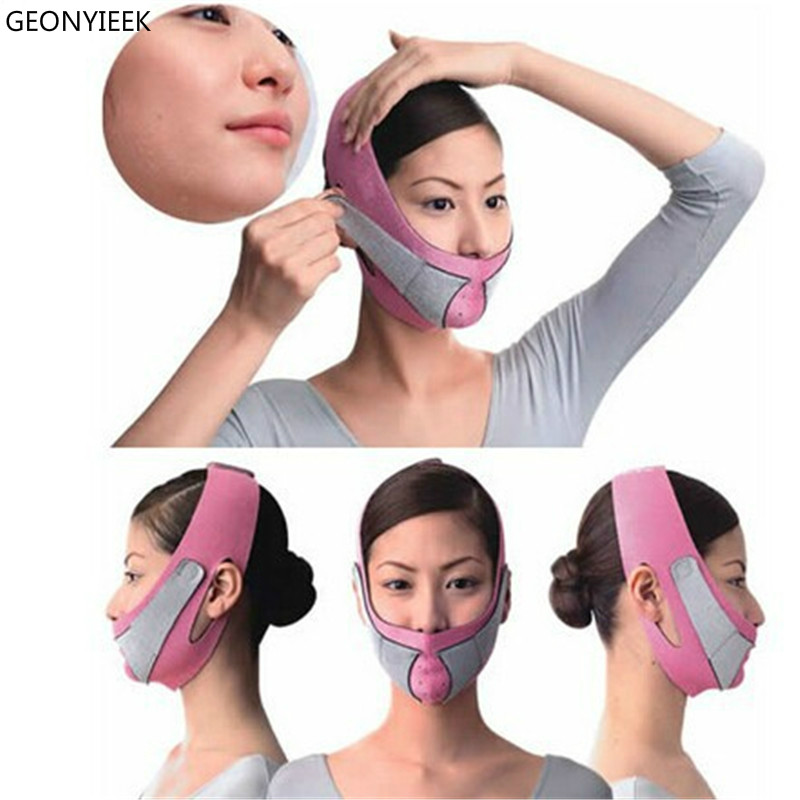 Face Lift Tools Thin Face Mask Slimming Facial Thin Masseter Double Chin Skin Thin Face Bandage Belt Women Face Care Beauty Kit 目