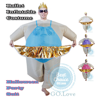2015 New Arrive Ballet Inflatable Costumes Hot Adult Halloween Party Suits One Size