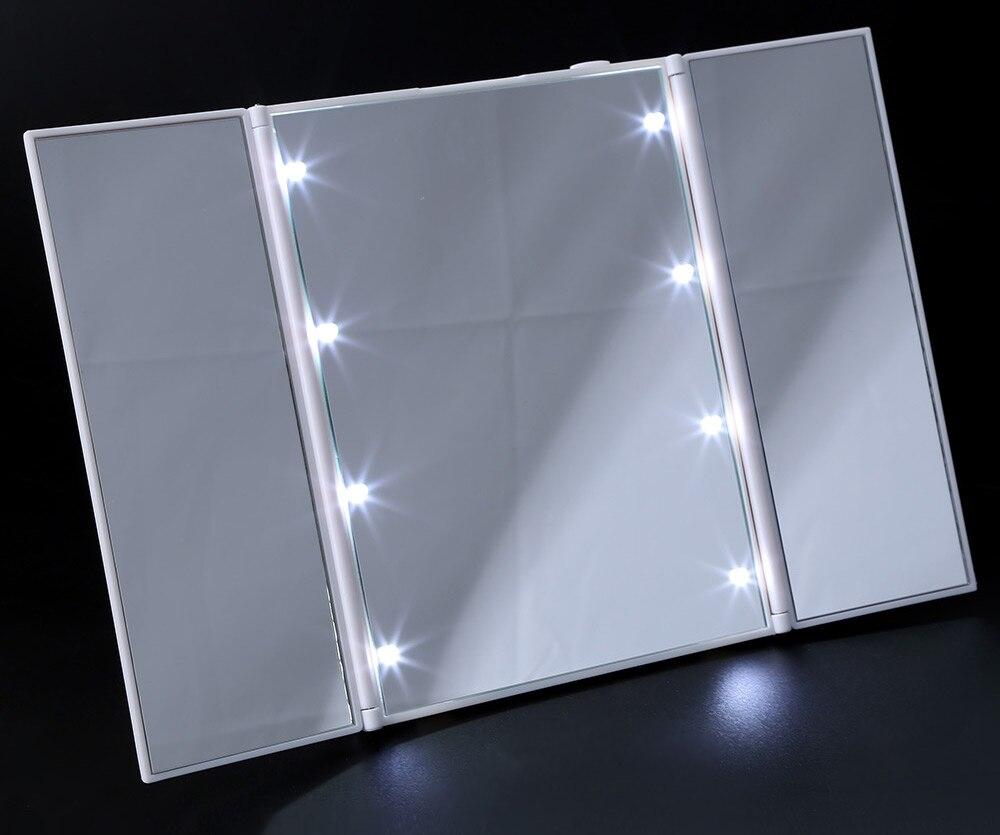 Schminkspiegel Aktiv 360 Rotierenden Desktop Spiegel Touchscreen Make-up Spiegel Professionelle Eitelkeit Spiegel Schönheit Einstellbare Arbeitsplatte 5x Vergrößerung Spiegel