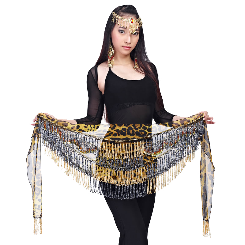 17 # Pure Manual  Egyptian Belly Dance Hip Scarf Belly Dance Belt Waist Chain Wipes