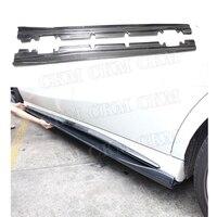 Углеродного волокна сбоку юбки фартук спойлер гвардии для Mercedes Benz класс W176 A160 A180 A250 A45 CLA W117 CLA180 CLA45 AMG 2013 17