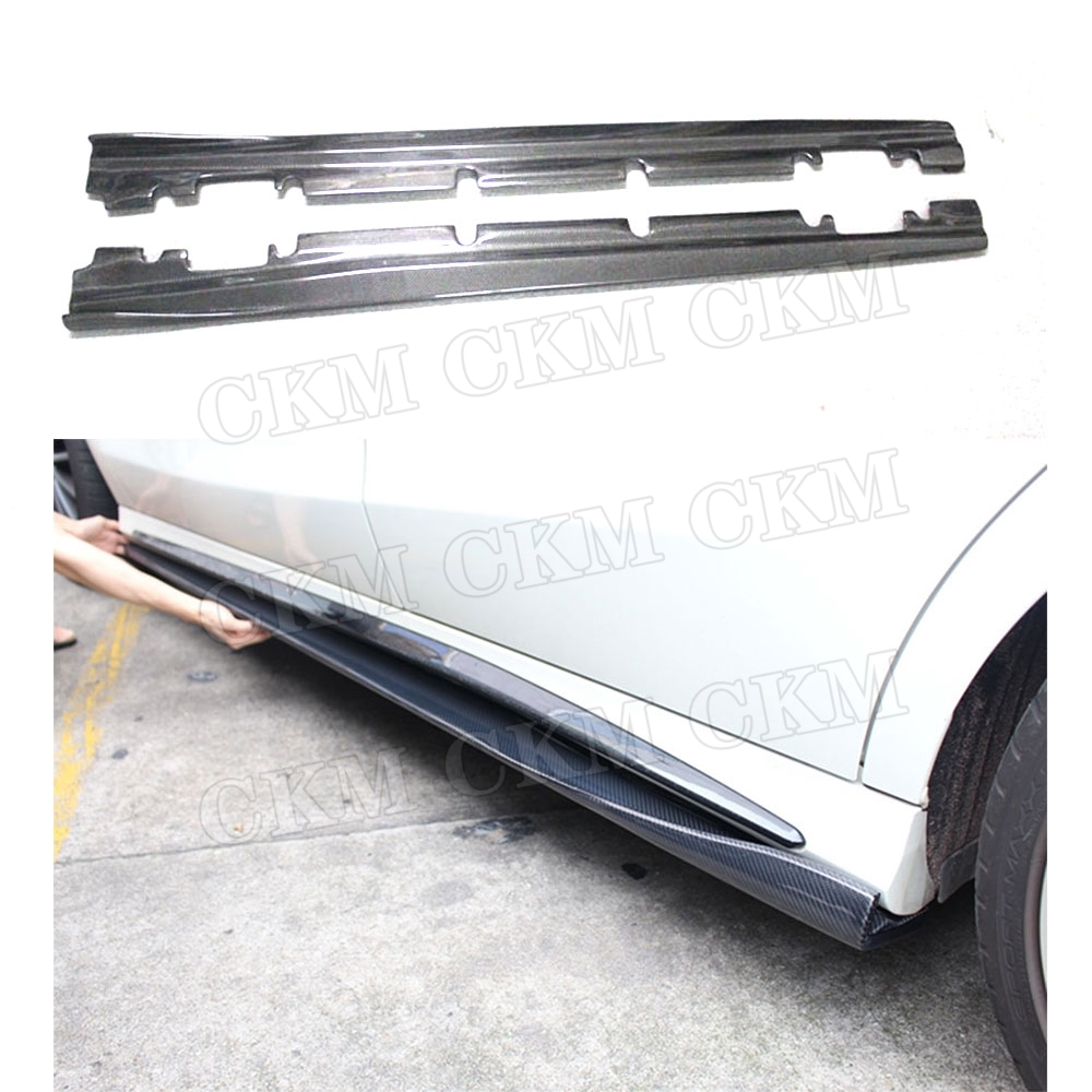 Carbon Fiber Side Skirts Aprons Guard for <font><b>Mercedes</b></font> Benz A Class W176 A160 A180 A250 A45 CLA W117 CLA180 <font><b>CLA45</b></font> <font><b>AMG</b></font> 2013-17 image