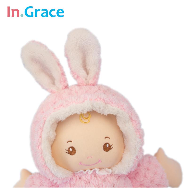 In.Grace super cute çəhrayı dovşan körpə doğulmuş bebeklər - Kuklalar və kuklalar üçün aksesuarlar - Fotoqrafiya 4