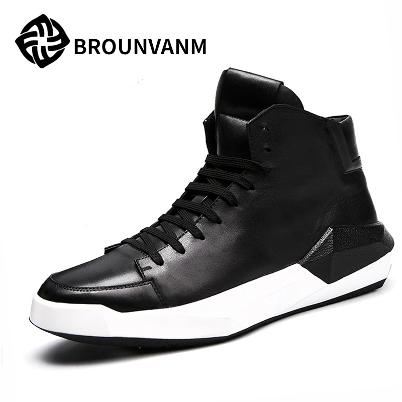 Free shipping Europe station high supreme Korean tide fall 2017 new casual leather shoes breathable shoes free shipping in the autumn of 2017 new korean daily leisure casual shoes for men head fashion shoes breathable low tide