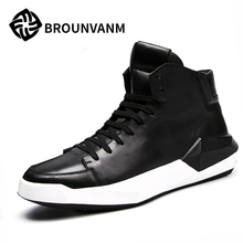 Free shipping Europe station high supreme Korean tide fall 2016 new casual leather shoes breathable