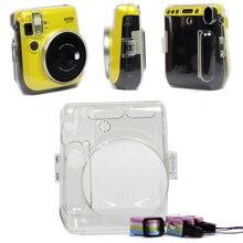 Fujifilm Instax Mini 70 için Fuji anında Film kamera koruyucu Crystal Clear taşıma çantası sert kapak çanta omuz askısı ile