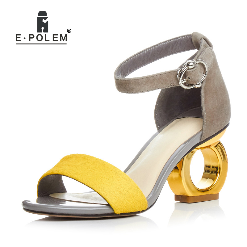Neue Mode Peep Toe hochhackigen Sandalen Trendy Frauen Sexy 8 cm High Heels Gladiator Sandalen Schuhe Weibliche Party kleid Schuhe - 3