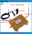 Hot!! Telefone celular GSM DCS Dual Band de Reforço de Sinal de Telefone Celular GSM 900 MHZ DCS 1800 MHZ Repetidor de Sinal amplificador + poder adpater