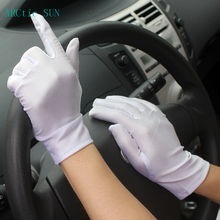 Fashion Solid Wrist Women Gloves Cotton Female Thin Short Design Elastic Special Sunscreen Summer Driving Hot Sale NGRH2619