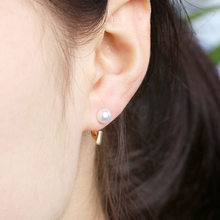 Simulated Pearl Earrings Double Side Vertical Hanging Ear Jewelry Accessories For Wemon Wedding Gift(China)