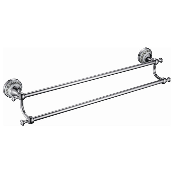 Free Shipping Wholesale And Retail 60cm brass Ceramics Bath Towel Bar Dual Tiers Antique Brass Wall Mounted DB008K-1 krishen kumar bamzai and vishal singh perovskite ceramics preparation characterization and properties