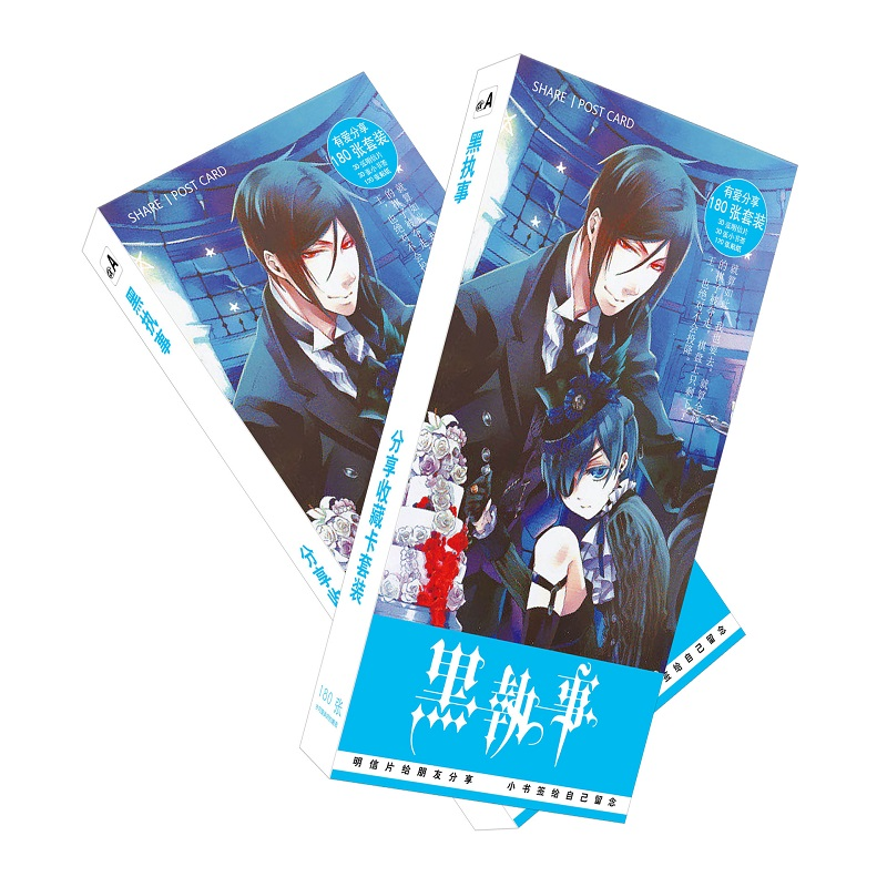 180Pcs/Set Black Butler Cartoon Postcard/Greeting Card/Message Card/Christmas And New Year Gifts